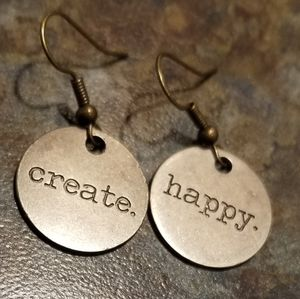 Create Happy Boho Metal Art Handmade Earrings
